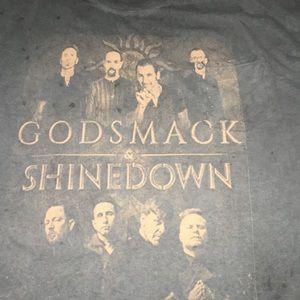 Godsmack & Shinediwn Concert Tee with Pocket. XL